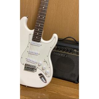 Legendの白エレキ、アンプ、アンプコード、ギターケースセット「値下げ交渉あり(エレキギター)