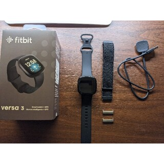 Fitbit Versa 3 ブラック/ブラック(トレーニング用品)
