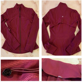 ルルレモン(lululemon)のlululemon define jacket4ワインレッド美品(ヨガ)