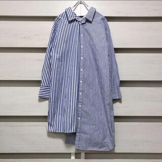 ラウンジドレス(Loungedress)の【Awfully 】オーフリー アシンメトリーストライプシャツ(シャツ/ブラウス(長袖/七分))