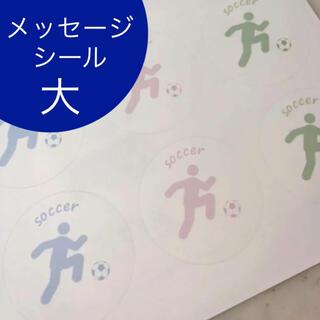 サッカー 寄せ書きシール 12枚 メッセージ 色紙(サッカー)