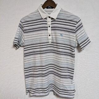 バーバリーブラックレーベル(BURBERRY BLACK LABEL)のバーバリー ブラックレーベル ロゴ ボーダー ポロシャツ(ポロシャツ)