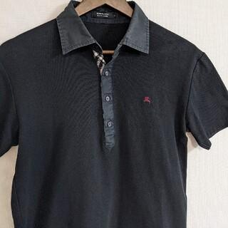 バーバリーブラックレーベル(BURBERRY BLACK LABEL)のバーバリー ブラックレーベル ロゴ チェック ポロシャツ ブラック(ポロシャツ)