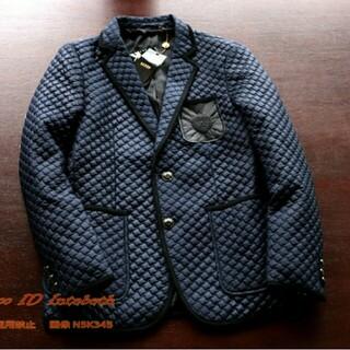 エスト(est)の【新品】35,000円 深青 中綿 キルティングチェック テーラードジャケット(テーラードジャケット)