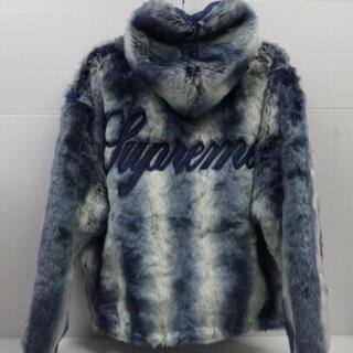 シュプリーム(Supreme)のsupreme faux fur reversible hooded blue(その他)