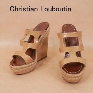 Christian Louboutin - Christian Louboutin クリスチャンルブタン エナメル サンダル