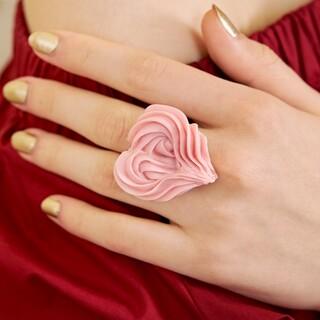 Q-pot. - キューポット グレースハートマカロン リング 指輪 Q-pot ピンク