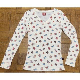 ヒステリックグラマー(HYSTERIC GLAMOUR)のヒステリックグラマー ワッフル Tシャツ ロング Vネック くまちゃん(Tシャツ(長袖/七分))