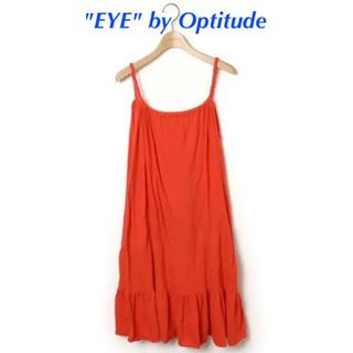 """オプティチュード(Optitude)の【送料無料】""""EYE"""" by Optitudeキャミソールワンピース赤コットン(ひざ丈ワンピース)"""