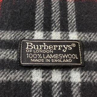 バーバリー(BURBERRY)の激レア!美品!定番バーバリーノバチェック マフラー!イギリス製100%ラムウール(マフラー/ショール)