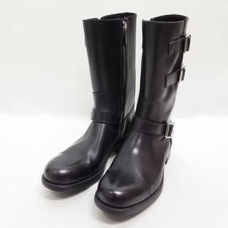 プラダ(PRADA)の定価19万 PRADA プラダレザー エンジニア ブーツ 9 メンズ(ブーツ)