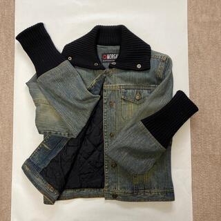 モルガン(MORGAN)のほぼ未使用 モルガンMORGAN 襟、袖ニット裏地キルティングデニムGジャン (Gジャン/デニムジャケット)