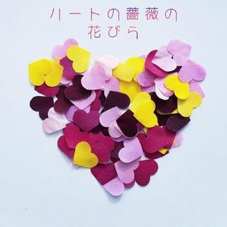 ハートの薔薇の花びら 20枚 オーダーページ(ドライフラワー)