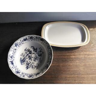 ニッコー(NIKKO)のニッコー ダブルフェニックス ブルーオニオン 大皿 レトロデザイン オーバル皿(食器)