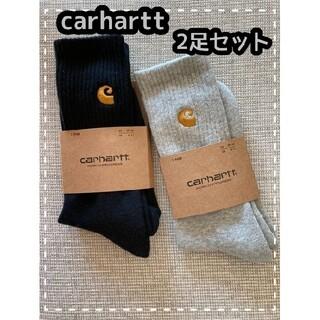 carhartt - ○新品○ 大人気 carhartt カーハート ソックス 2足セット 黒 グレー