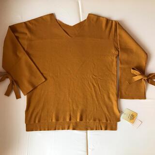 グローブ(grove)の【新品】グローブ  grove  袖リボン可愛い セーター M(ニット/セーター)