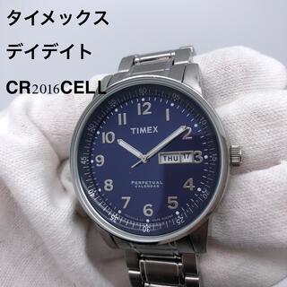 タイメックス(TIMEX)の【TIMEX】メンズ 腕時計 メンズウォッチ 青文字盤 デイデイト クォーツ(腕時計(アナログ))