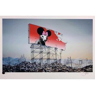 メディコムトイ(MEDICOM TOY)のJeff Gillette ジェフジレット Banksy minnie(版画)
