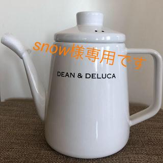 ディーンアンドデルーカ(DEAN & DELUCA)の新品未使用 DEAN & DELUCA ホーローケトルホワイト(調理道具/製菓道具)