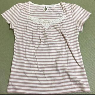 エニィスィス(anySiS)のanysis ブラウス トップス ボーダー レース 半袖Tシャツ(Tシャツ(半袖/袖なし))