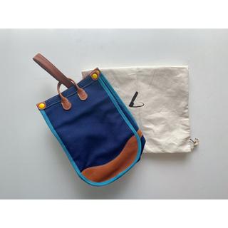 ツチヤカバンセイゾウジョ(土屋鞄製造所)のこども鞄 うわばき入れ こんいろ 新品 [土屋鞄製造所](シューズバッグ)