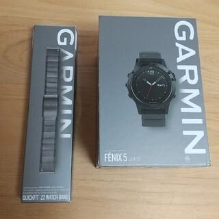 ガーミン(GARMIN)のGARMIN FENIX5 SAPPHIRE ガーミン フェニックス5(腕時計(デジタル))