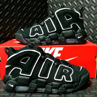 ナイキ(NIKE)のAIR MORE UPTEMPO BLACK/WHITE(スニーカー)