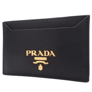 PRADA - プラダカードケース サフィアーノレザー ブラック黒 40800066698