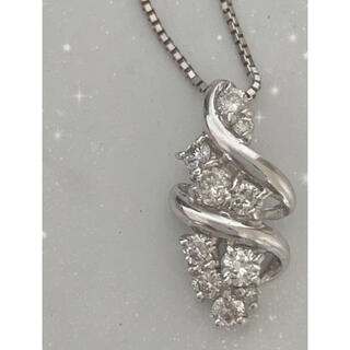 プラチナ✨10Pダイヤネックレス✨0.35ct上質ダイヤお買い得品❣️(ネックレス)