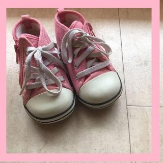 コンバース(CONVERSE)のレア♡キッズコンバース♡ピンク♡USAヴィンテージ♡ハイカットスニーカー(スニーカー)