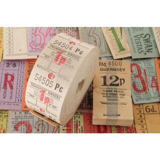 【レアオマケ】◆海外 イギリス ヴィンテージ バス ロールチケット 1 TRA◆(印刷物)