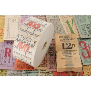 【レアオマケ】◆イギリス ヴィンテージ バス ロールチケット 40 TRANS★(印刷物)