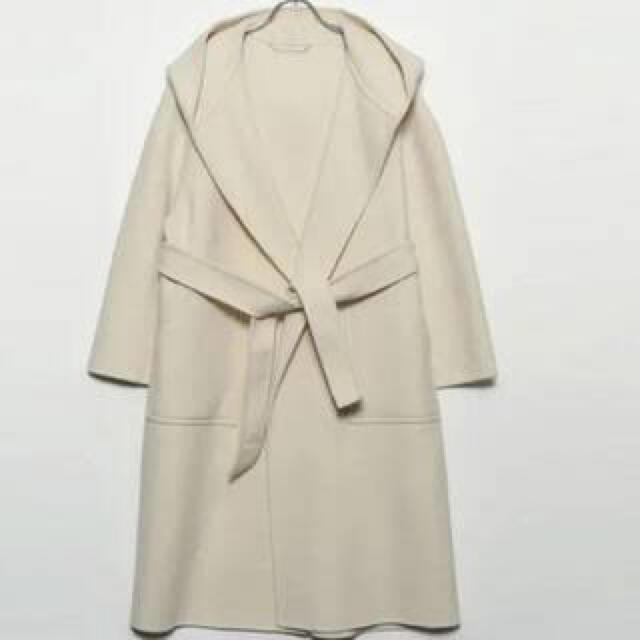 Mila Owen(ミラオーウェン)の【milaowen】ベルト付接結フードガウンコート レディースのジャケット/アウター(ロングコート)の商品写真