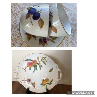 ロイヤルウースター(Royal Worcester)の(再値下げ)ロイヤルウースター コーヒーカップとサービス皿(食器)