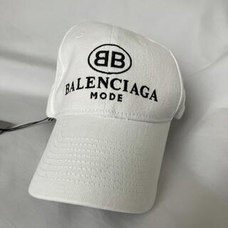 バレンシアガ(Balenciaga)の新品 バレンシアガ BB BALENCIAGA ロゴキャップ ホワイト(キャップ)