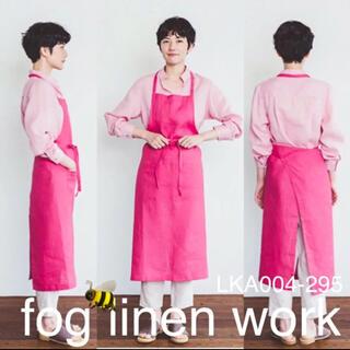 フォグリネンワーク(fog linen work)の【新品】fog linen work リネンエプロン ローズペーシュ(ひざ丈ワンピース)