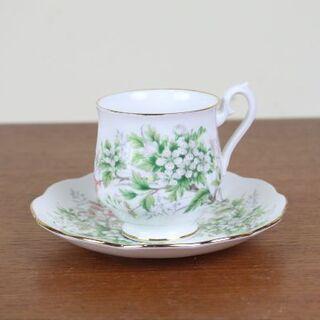 ロイヤルアルバート(ROYAL ALBERT)のロイヤルアルバート デュオ デミタス ティーカップ イギリス 花柄(食器)