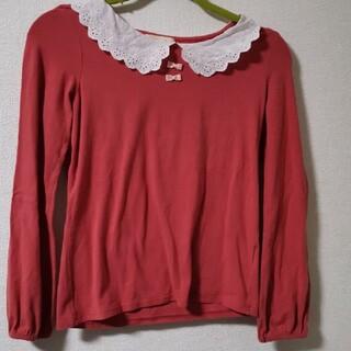 ダブルクローゼット(w closet)のオレンジ ピンク(Tシャツ(長袖/七分))