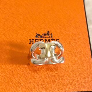 エルメス(Hermes)の正規品 エルメス 指輪 ヒストリーリング  H コンビ シルバー ゴールド 金5(リング(指輪))