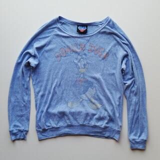 ジャンクフード(JUNK FOOD)のJUNKFOOD/アメリカ製/ドナルドダックの染込プリントロンスリT/USED(Tシャツ/カットソー(半袖/袖なし))