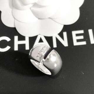 シャネル(CHANEL)の正規品 シャネル 指輪 SV925 シルバー 銀 アルファベット 文字 リング3(リング(指輪))