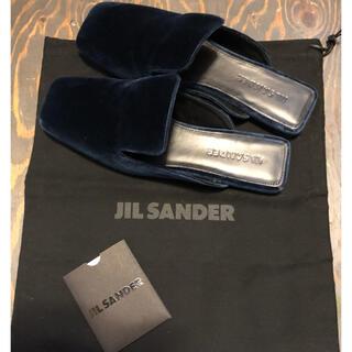 ジルサンダー(Jil Sander)のJil sander ジルサンダー ベルベット バブーシュ スリッポン スリッパ(ハイヒール/パンプス)