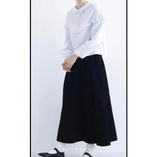 merlot - 新品 メルロー ロングスカート コーデュロイ ブラック 最終価格