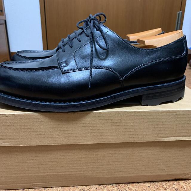 J.M. WESTON(ジェーエムウエストン)の値下 試着のみ jmweston641Golf ブラックボックスカーフ 9.5D メンズの靴/シューズ(ドレス/ビジネス)の商品写真