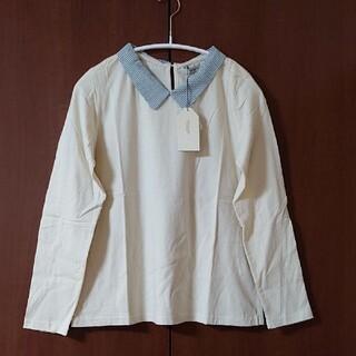 プードゥドゥ(POU DOU DOU)の☆新品☆POU DOU DOU チェック柄襟付きカットソー(シャツ/ブラウス(長袖/七分))