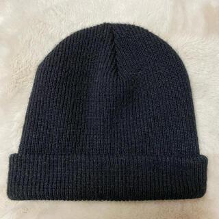ユナイテッドアローズ(UNITED ARROWS)のレディース ユナイテッドアローズ 黒ニット帽(ニット帽/ビーニー)