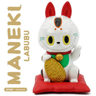POP MART LABUBU 招き猫 ポップマート ラブブ  2個(キャラクターグッズ)