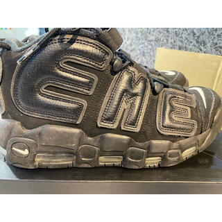 ナイキ(NIKE)のNIKE AIR MORE UPTEMPO SUPREME BLACK(スニーカー)