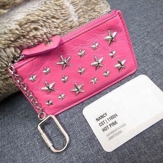 ジミーチュウ(JIMMY CHOO)の正規品☆ジミーチュウ コインケース 小銭入れ ピンク 星スタッズ バッグ 財布(コインケース)