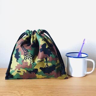 数量限定☁︎巾着☁︎コップ袋☁︎迷彩アニマル柄(外出用品)